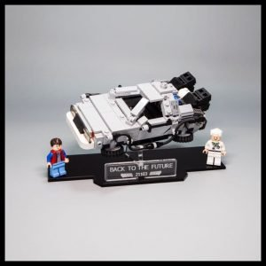 Acrylic Display Stand For The LEGO Delorean Back To The Future Model