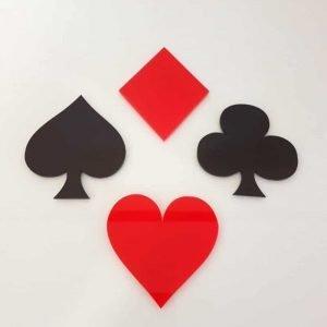 Acrylic Playing Card Coasters