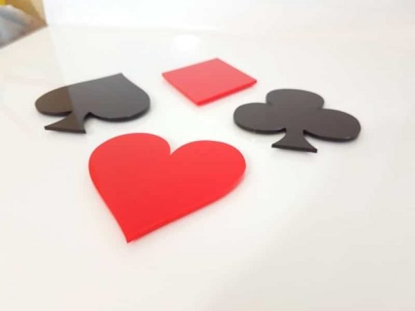 Acrylic Playing Card Coasters