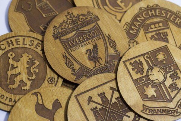 Football Team Wooden Coasters