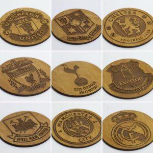 LEAGUE  Football Team Wooden Coasters