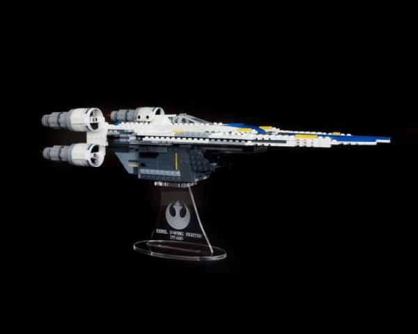 Rebel U Wing Fighter Acrylic Display Stand