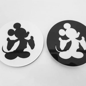 Silhouette Acrylic Coasters