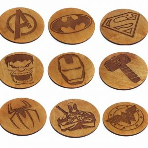 Super Hero Wooden Coasters