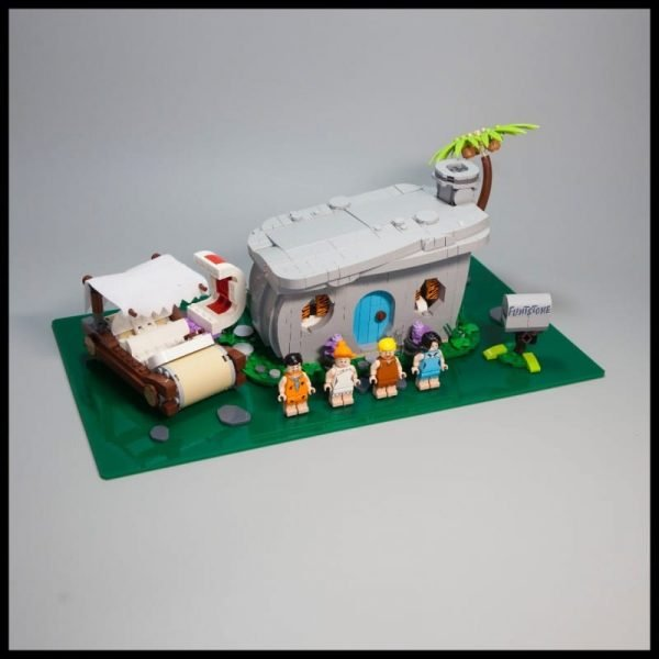 Acrylic Display Base For The Flintstones LEGO Set