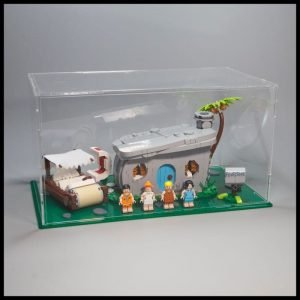 Acrylic Display Case For The Flintstones LEGO Set