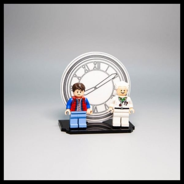 Acrylic Display Stand For LEGO Back To The Future Minifigures