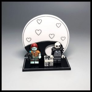 Acrylic Display Stand For LEGO Jack And Sally Minifigures