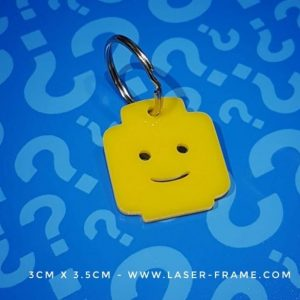 Minifigure Head Keyring