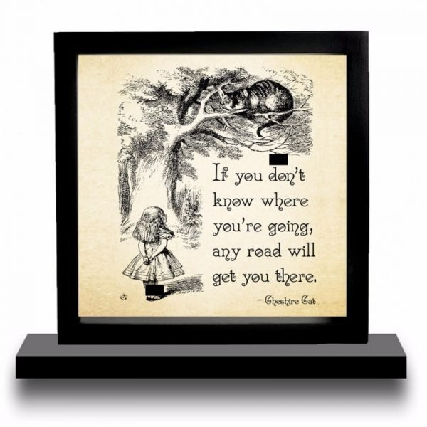 Alice And The Cheshire Cat Display Mount Acrylic Insert