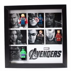 Avengers Black White Acrylic Minifigure Display