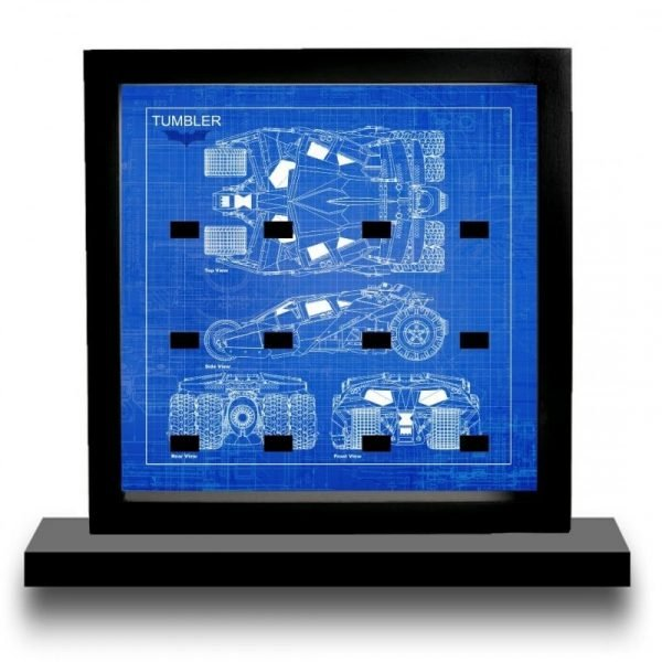 Batman Tumbler Blueprint Style Minifigure Display