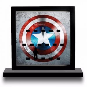 Captain America Shield Acrylic Minifigure Display