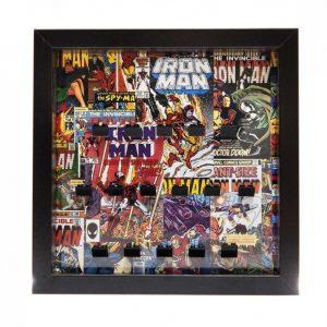 Comic Style Iron Man Frame Display Mount Acrylic Insert