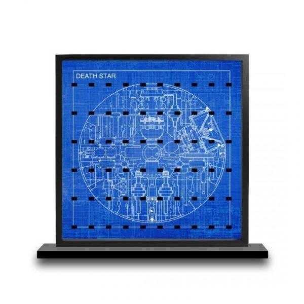 Death Star Blueprintcm Acrylic Minifigure Insert