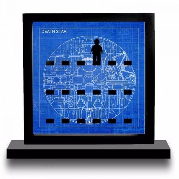 Death Star Blueprint Acrylic Minifigure Display