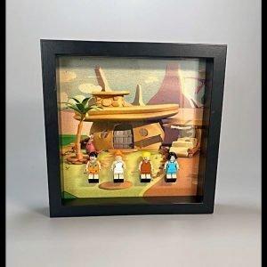 Flintstone Acrylic Frame Insert For LEGO Flintstones Minifigures
