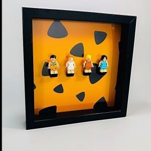 Flintstone Acrylic Frame Insert For LEGO Flintstones Minifigures Orange