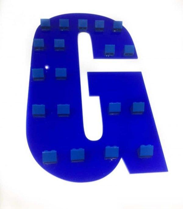 Initial Minifigure Plaque