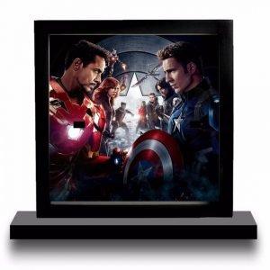 Iron Man vs Captain America Acrylic Display Frame