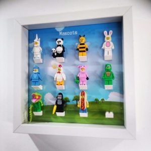 Mascots Frame Display Mount Acrylic Insert
