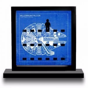 Millenium Falcon Blueprint Acrylic Minifigure Display
