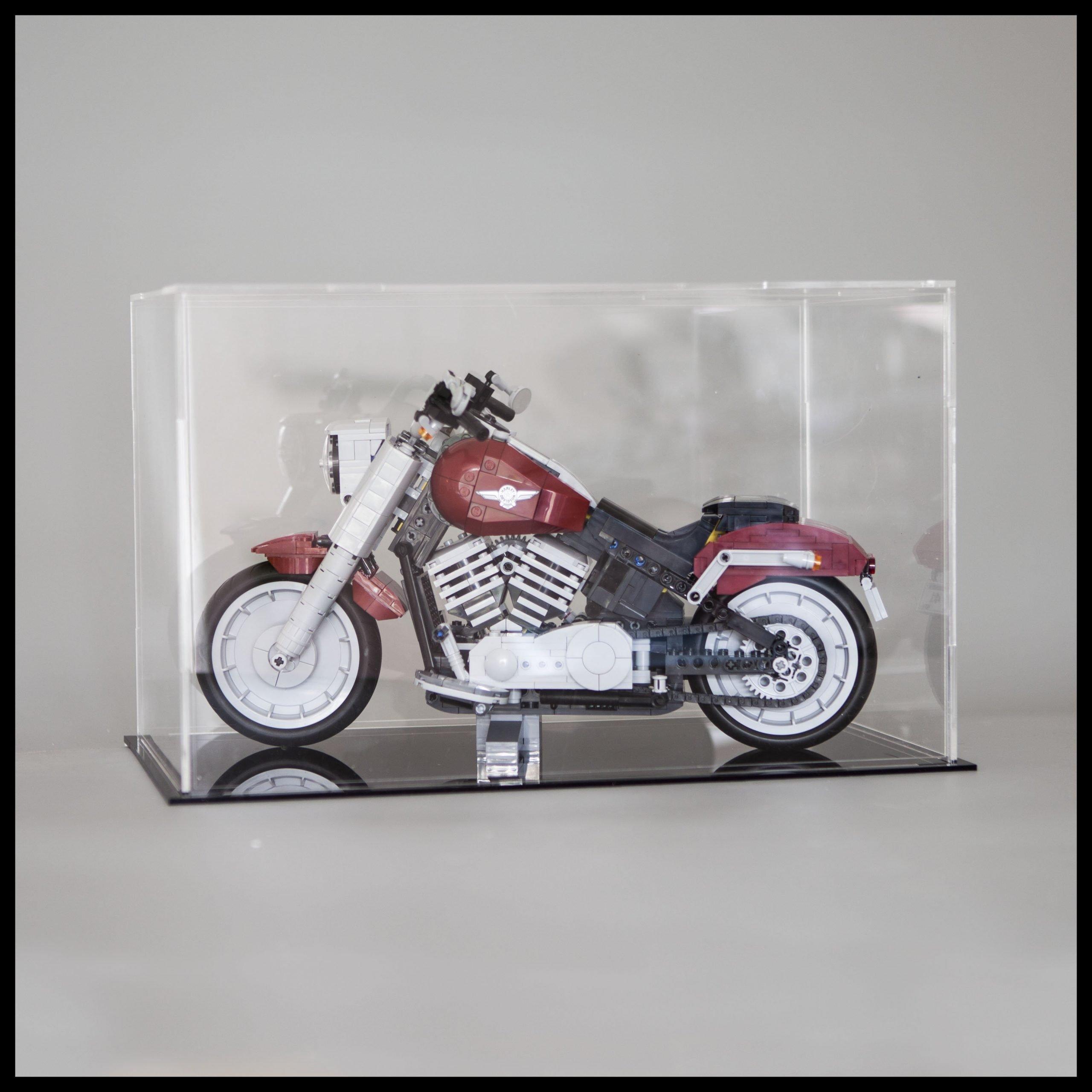 Acrylglas Vitrine Haube für LEGO Harley Davidson 10269